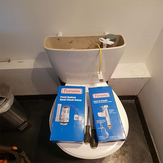 Plumber in Reading Co toilet not flushing repair